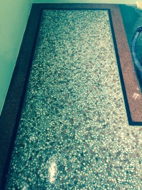 Terrazzo Flooring Redhill Church During Burnishing