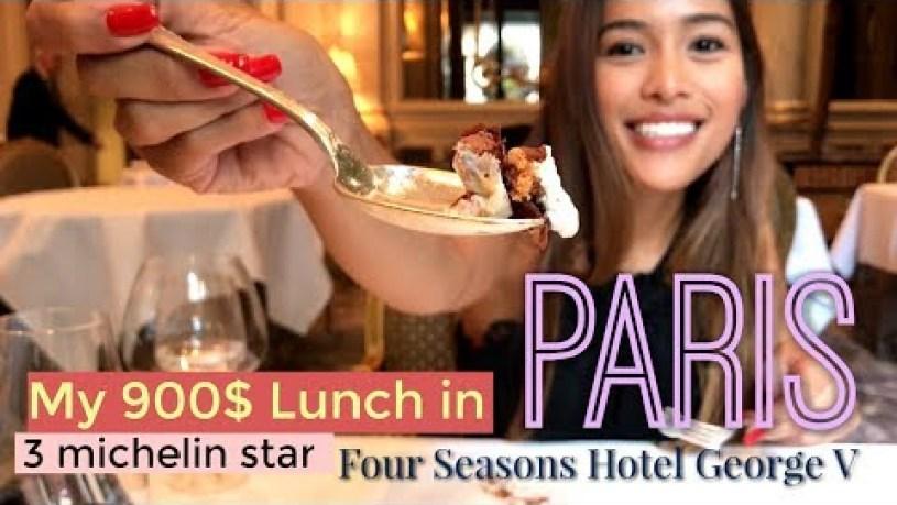 Paris: Fabulous 900$ Lunch!! World-Class 3 Michelin Star, Le Cinq at FS George V Hotel