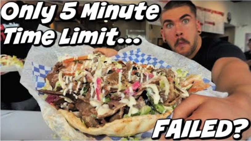 Crazy Donair Speed Food Challenge! Extremely Difficult | Failed? Kelowna BC | Man Vs Food