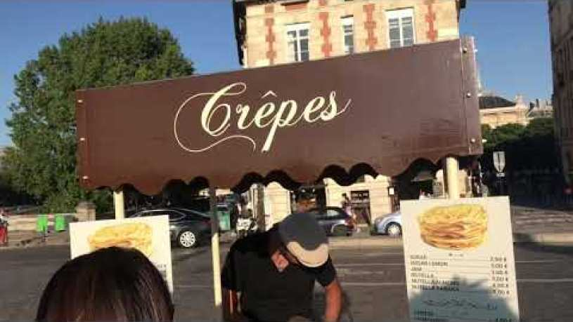 Crepes | Street food in Paris France