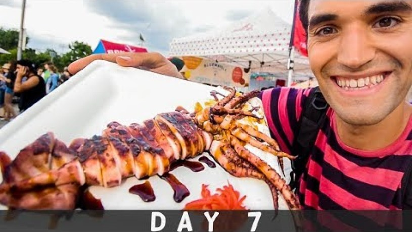 LIVING on STREET FOOD for 24 HOURS in NYC! (Day #7)