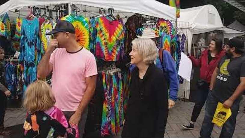 The Saturday Market, downtown Portland Oregon, full time van life
