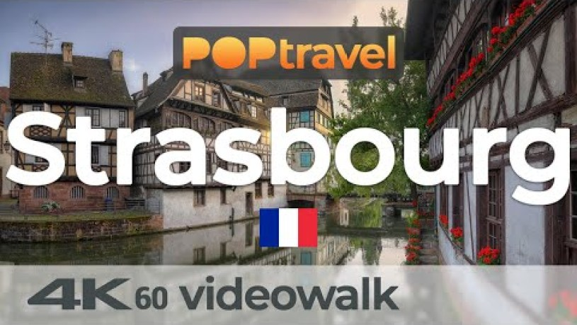 Walking in STRASBOURG / France 🇫🇷- Around the Old Town - 4K 60fps (UHD)