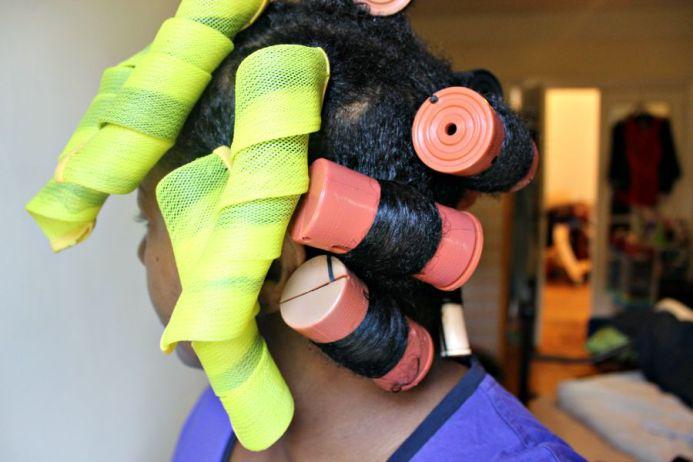 roller set hair