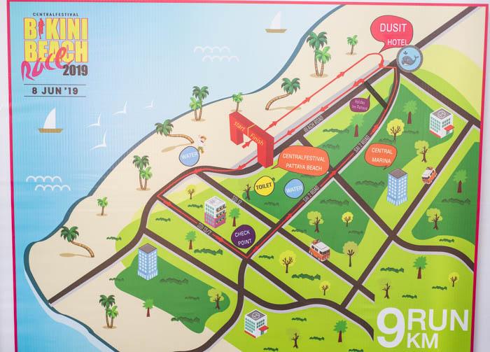 Карта маршрута забега на 9 километров