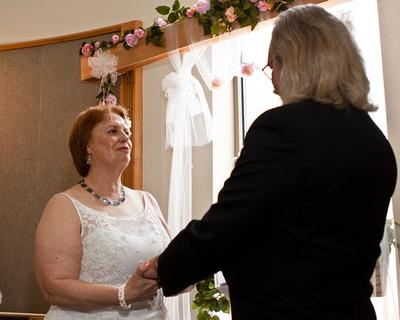 Bride's glistening tears of joy