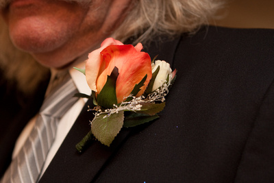Ed's Corsage Made of Silk Flowers