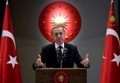 [Der türkische Führer Erdoğan]