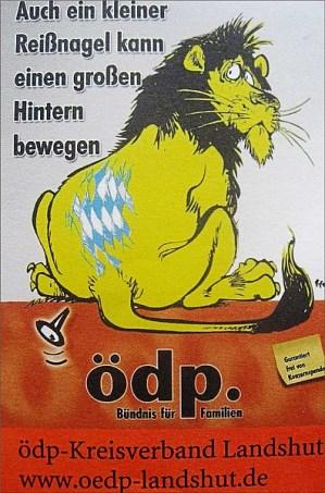 Reißnagel im Hintern des bayrischen Löwen