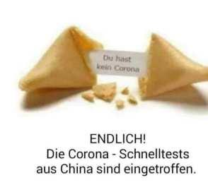 Corona-Schnelltests aus China sind eingetroffen
