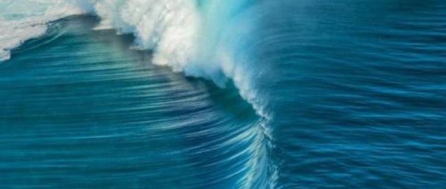 Amazing ocean wave in Greece