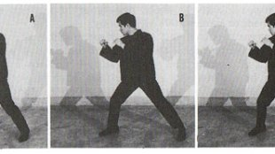 Bruce Lee practicing footwork