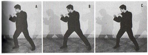 Bruce Lee practicing footwork