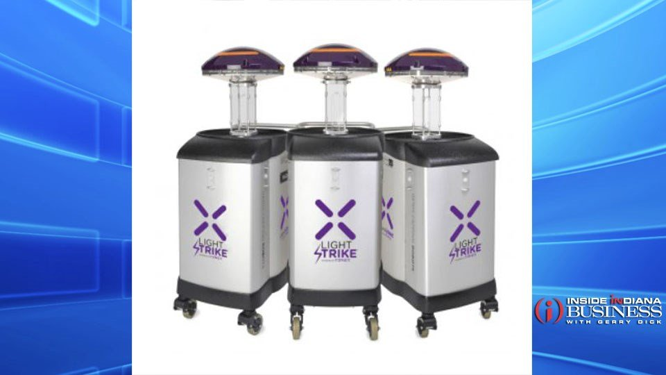 Reid Health is using robots which uses UV light to zap germs and disinfect rooms. (photo courtesy: Xenex)