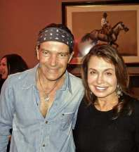 Antonio Banderas & Irene Michaels at Ajax Cup