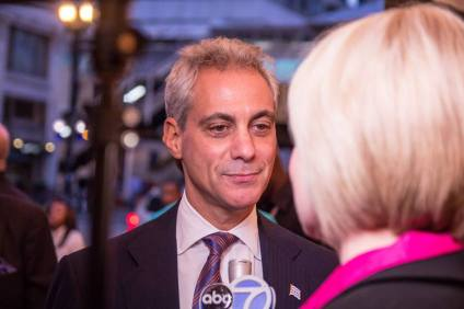 Mayor Rahm Emanuel at opening night