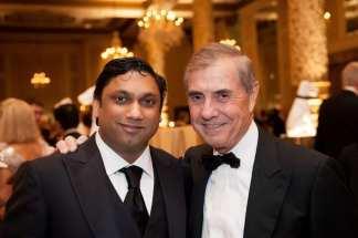 Presenting Sponsor Raj Fernando of Chopper Trading and Peter Fasseas