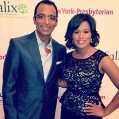 Singer John Secada & MC Shiba Russell at the American Liver Foundation's 13th Annual Honors Gala at Gotham Hall, NYC.