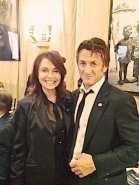 Irene Michaels and Sean Penn at his Help Haiti event