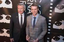 Michael Kutza with Artistic Achievement Award recipient Jesse Spencer