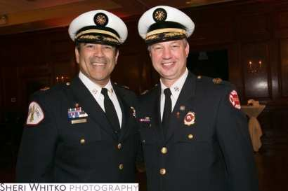 Fire Commissioner Jose Santiago with Deputy Fire Commissioner John McNicholas