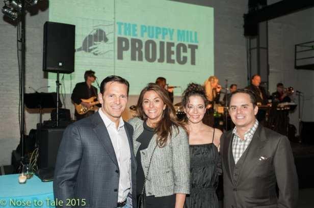 Graziela and John Kaufman of Highland Park, Karen Morgan, Lincolnwood, Bradley Young, Chicago