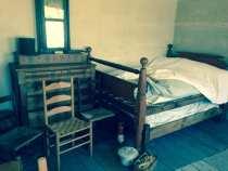 Inn bedroom for 1840s travellers