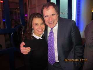 Irene Michaels with actor Richard Kind in Washington D.C.