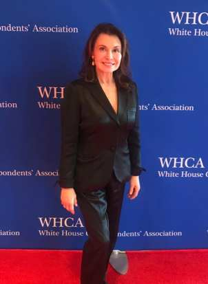Irene Michaels attends the White House Correspondents' Dinner.