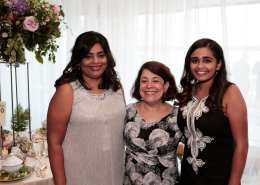 Chicago Shakespeare Board Member Pallavi Verma with Stacie Immesberger and Anjuli Karna. Photo by Michael Litchfield.