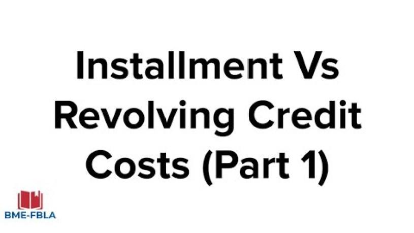 Is Installment Debt Better Than Revolving Debt
