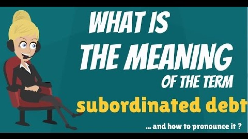 Is Unsecured Debt Subordinated