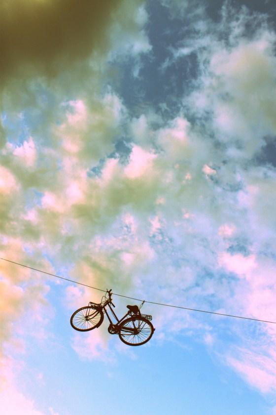 A random kike hanging over the city streets of Killarney