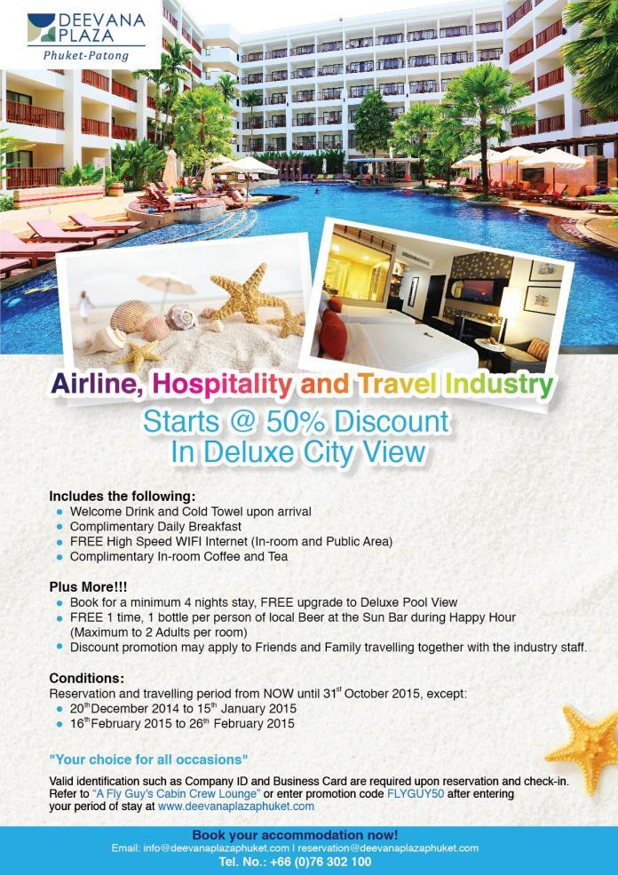 Get up to 50% off at the Deevana Plaza Phuket. Offer valid until October 2015