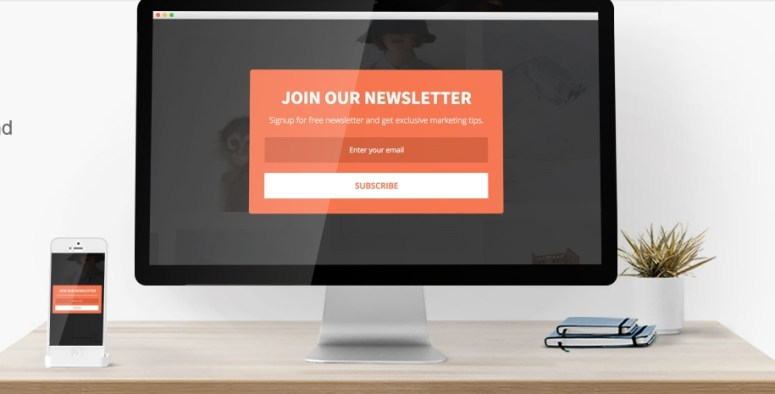 sign up popup form mailmunch