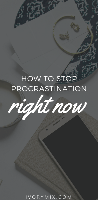 Stop procrastination and wasting time