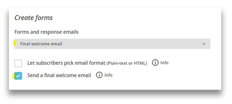 Mailchimp welcome email tutorial