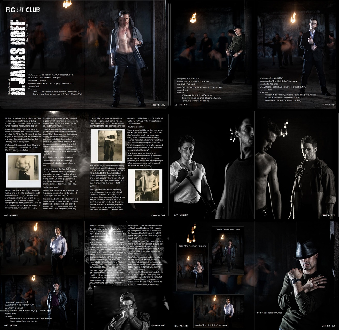 """Fight Club"" Editorial in Visual Artistry Magazine"