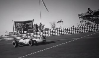 Honda RA272 Mexican Grand Prix finish line