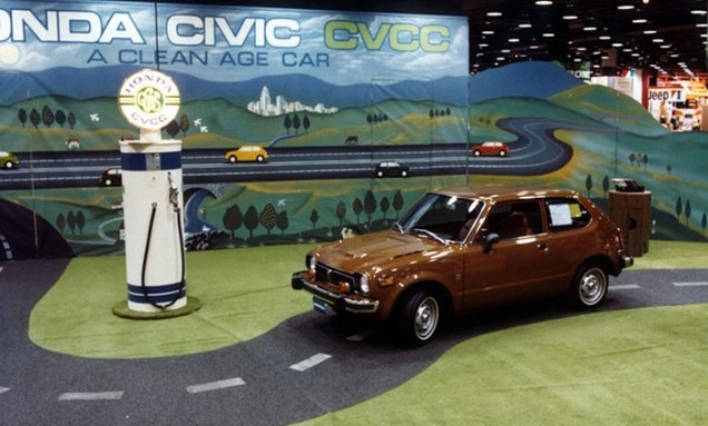 1975 Chicago Auto Show Honda Civic