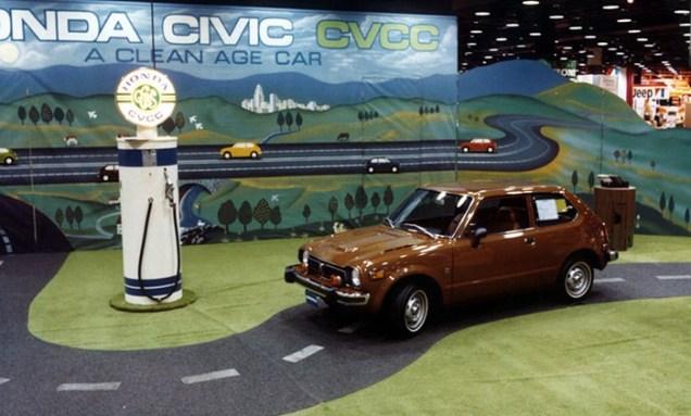 1975 Chicago Auto Show Honda Civic