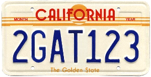 California 1987 Sunset Plate