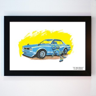 72 and Chillin' by Matt Spangler framed