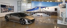The concept NSX and a fuselage of the HondaJet