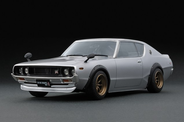 Ignition Models Nissan Skyline KPGC110 silver front
