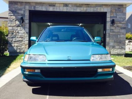 1991 Honda Civic Si Tahitian Green 78