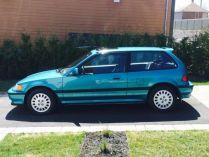 1991 Honda Civic Si Tahitian Green 79