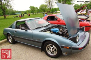 Mazda RX7 FB Blue Front Three Quarter Team_Nostalgic Chicago