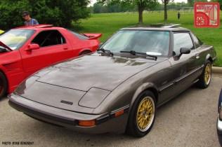 Mazda RX7 FB Gold Wheels Front Three Quarter Team_Nostalgic Chicago
