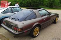 Mazda RX7 FB Gold Wheels Rear Three Quarter Team_Nostalgic Chicago
